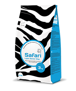 Safari (Сафари) for Dog Light Senior для контроля веса и стареющих собак 12кг